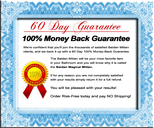 Baiden Mitten 60 Day 100% Money Back Guarantee